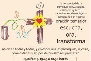 Oración Temática: escucha, ora, transforma