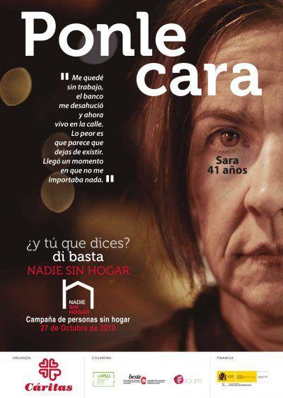 """Cartel de la Campaña """"Nadie sin hogar"""""""