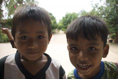 Camboya. Dos niños