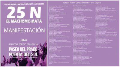 Actividades del 25N Foro de Madrid contra la violencia a las mujeres