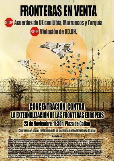 Cartel 23N. Contra la externalización de las fronteras