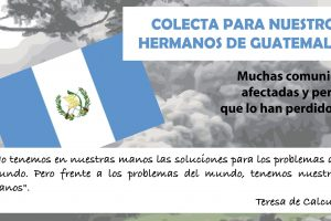 Colecta extraordinaria para Guatemala