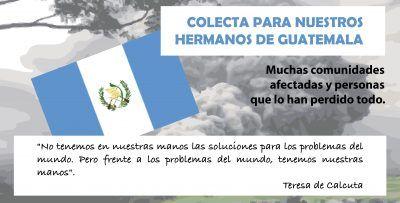 Cartel. Colecta para nuestros hermanos de Guatemala