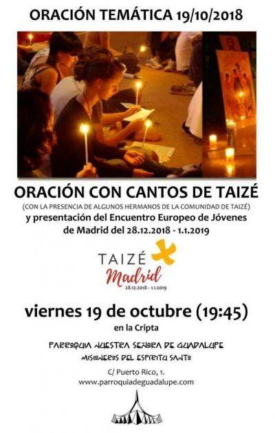 Oración temática -Taizé @ Cripta